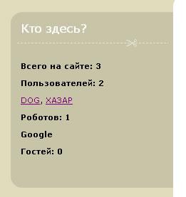 """Модуль """"Кто на линии онлайн"""" Dle 9.6, 9.7"""